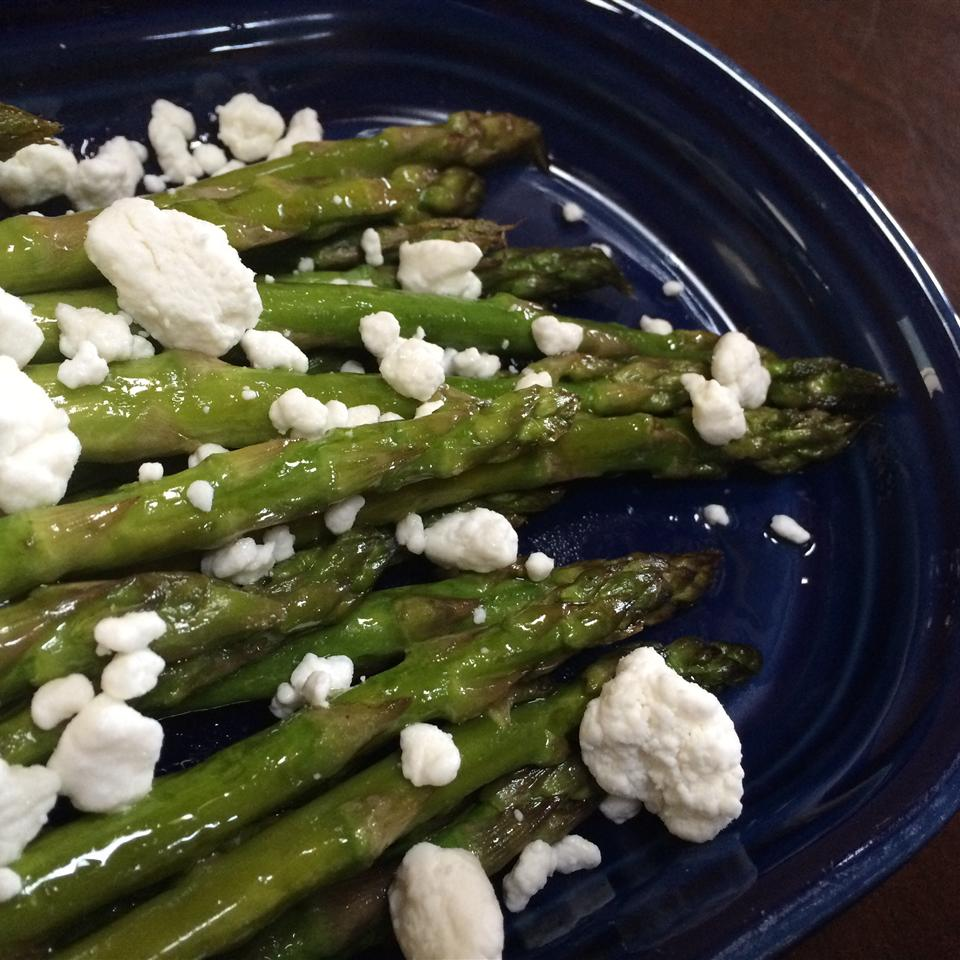 Roasted Asparagus with Lemon and Goat Cheese lovestohost