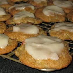 Frosted Rhubarb Cookies FNChef