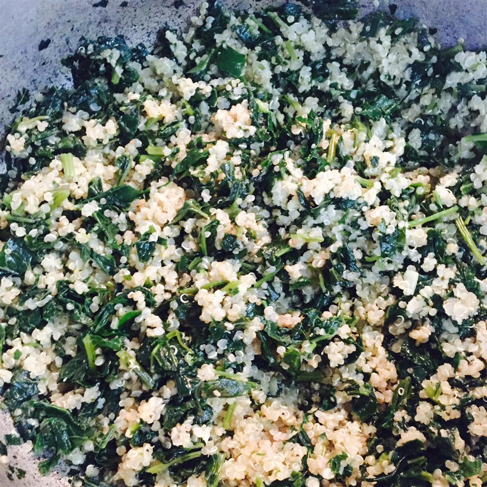 Garlic Kale Quinoa Samoya Walker