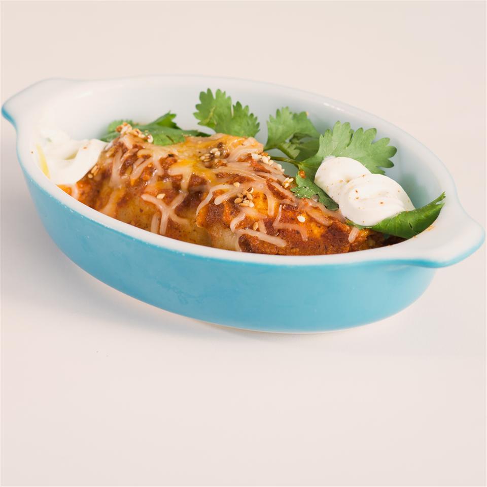 Spicy Chicken Enchiladas with Red Mole Sauce Erica Brown
