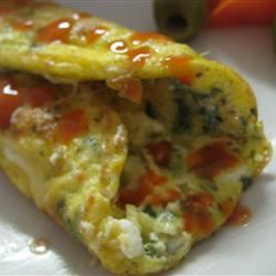 Egyptian Feta Cheese Omelet Roll monjfr