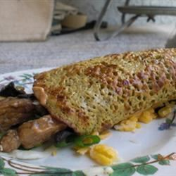 Savory Filled Cottage Cheese Pancakes