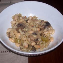Barley and Mushrooms with Beans malkuh23