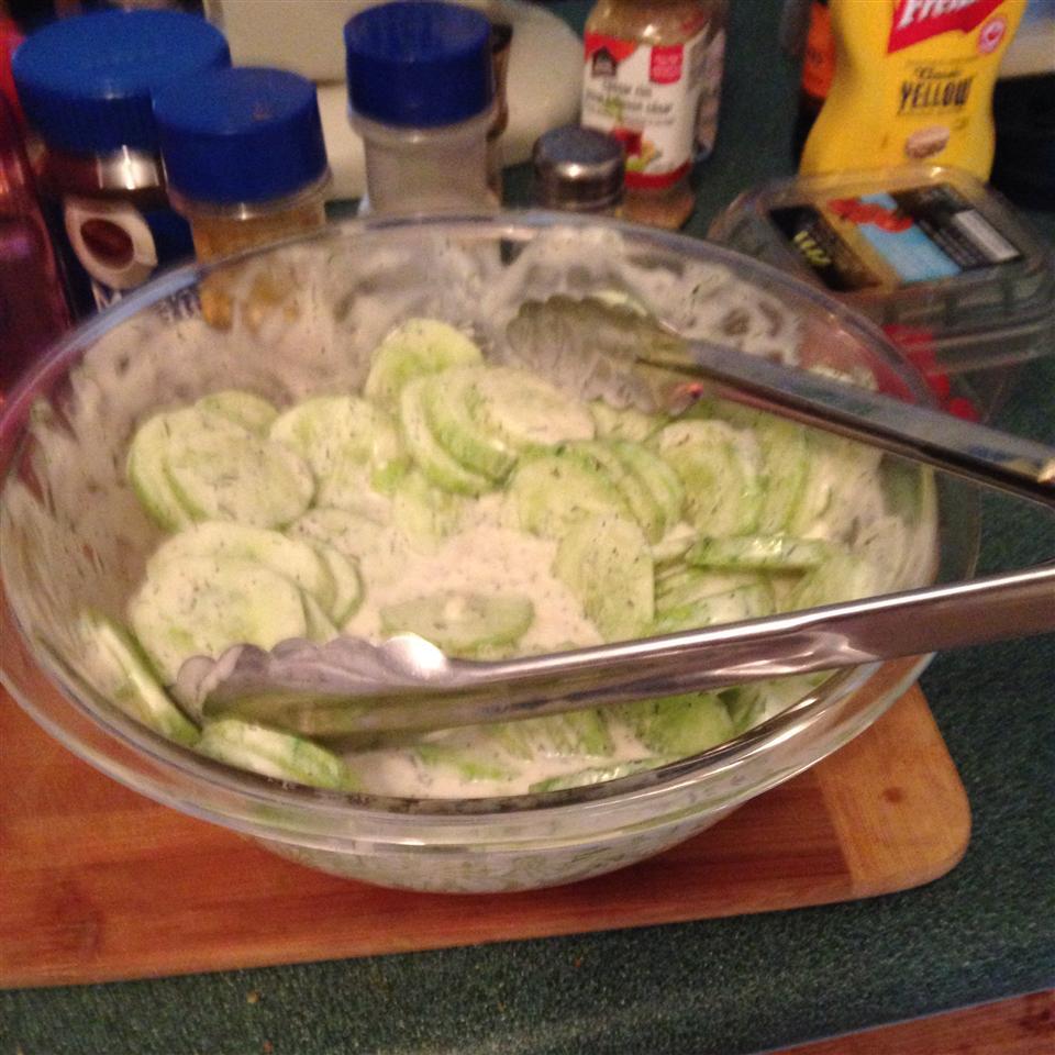 Creamy Garden Cucumber Salad