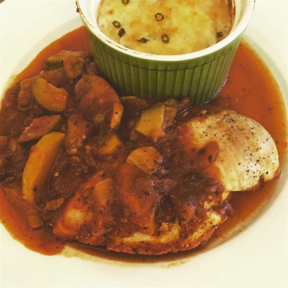 Carla's Veggie-Loaded Chicken Cacciatore