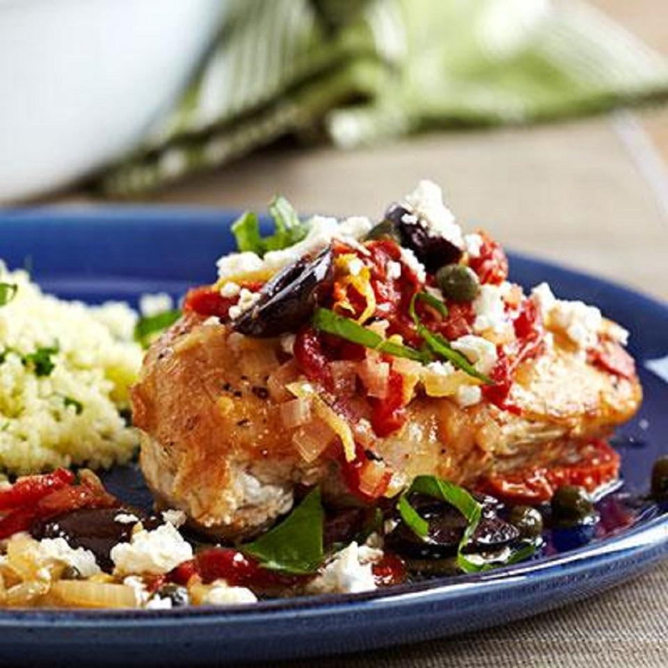 Pan-Seared Mediterranean Chicken
