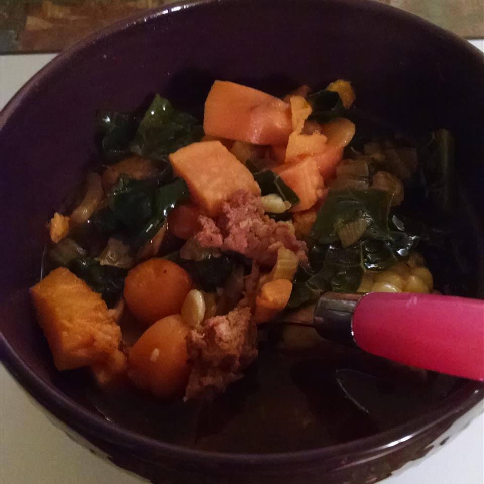 Paleo Chorizo Sweet Potato and Kale Stew Nicole M Ch