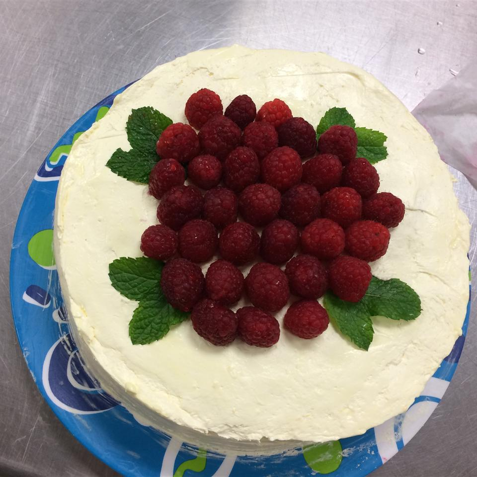 Low-Fat Lemon Raspberry Cake