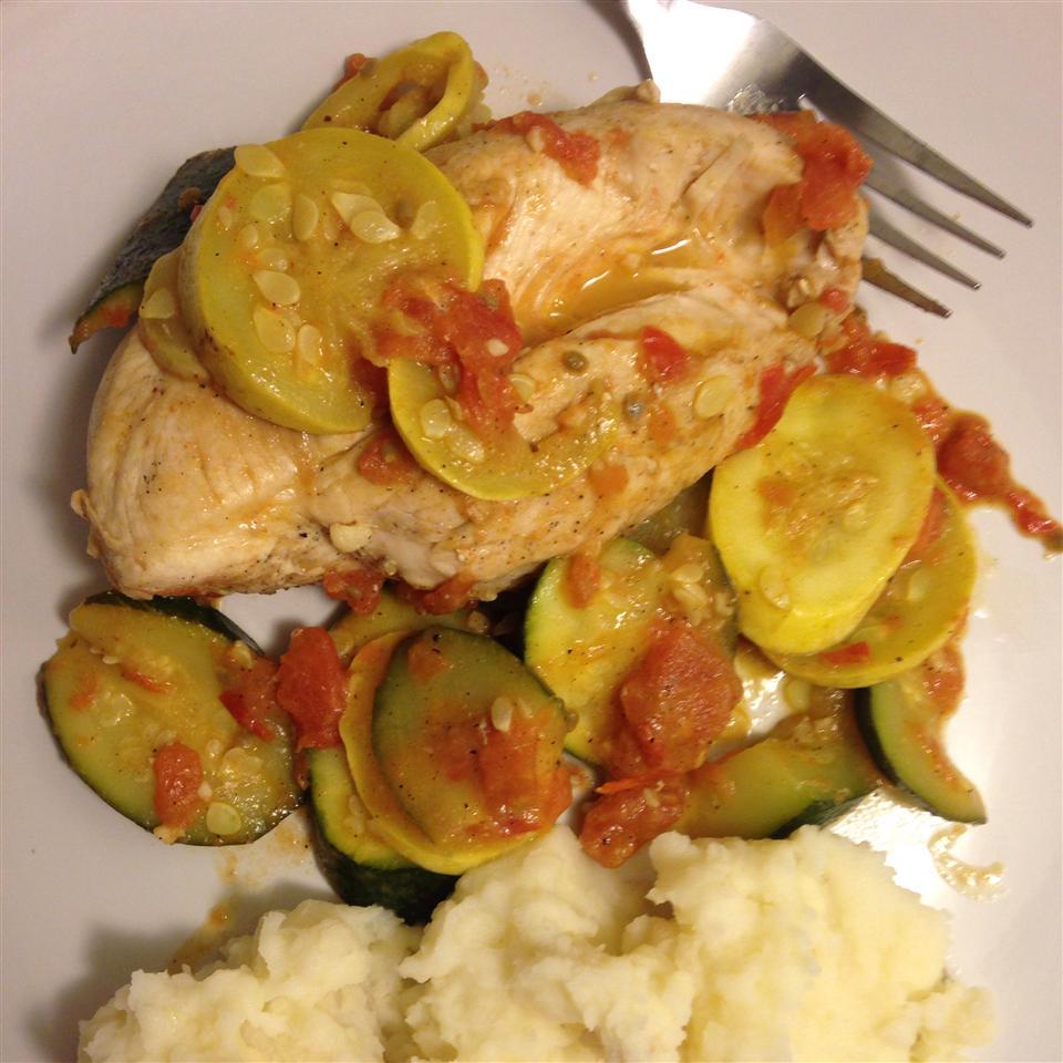 Chicken and Summer Squash KMSMOKEY