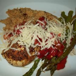 Chicken with Asparagus and Roasted Red Peppers hmstarr