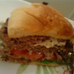 Goat Cheese Stuffed Lamb Burgers nccook123