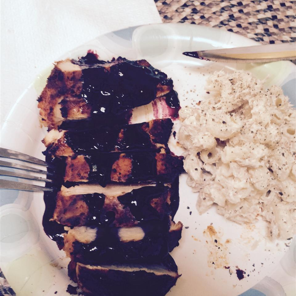 Red, White, and Blueberry Grilled Chicken