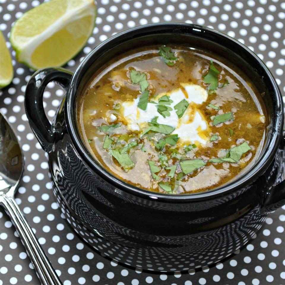 Rotisserie Chicken Chili With Hominy and Chiles