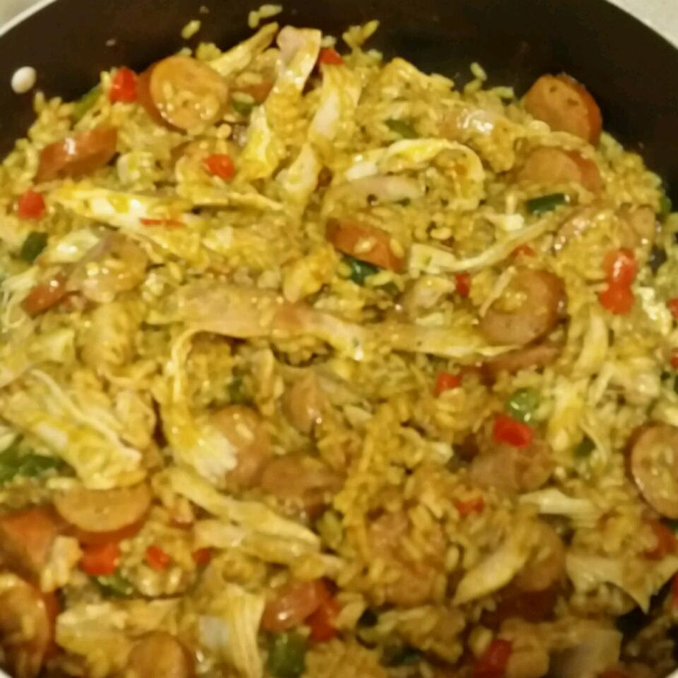 Risotto with Chicken, Sausage, and Peppers