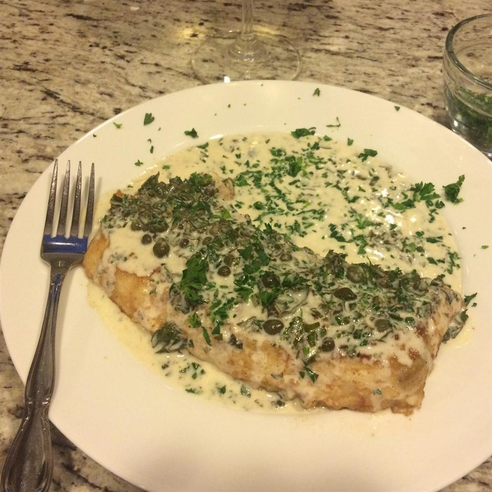 Pan Fried Halibut Steak with Light Green Sauce wildyouth