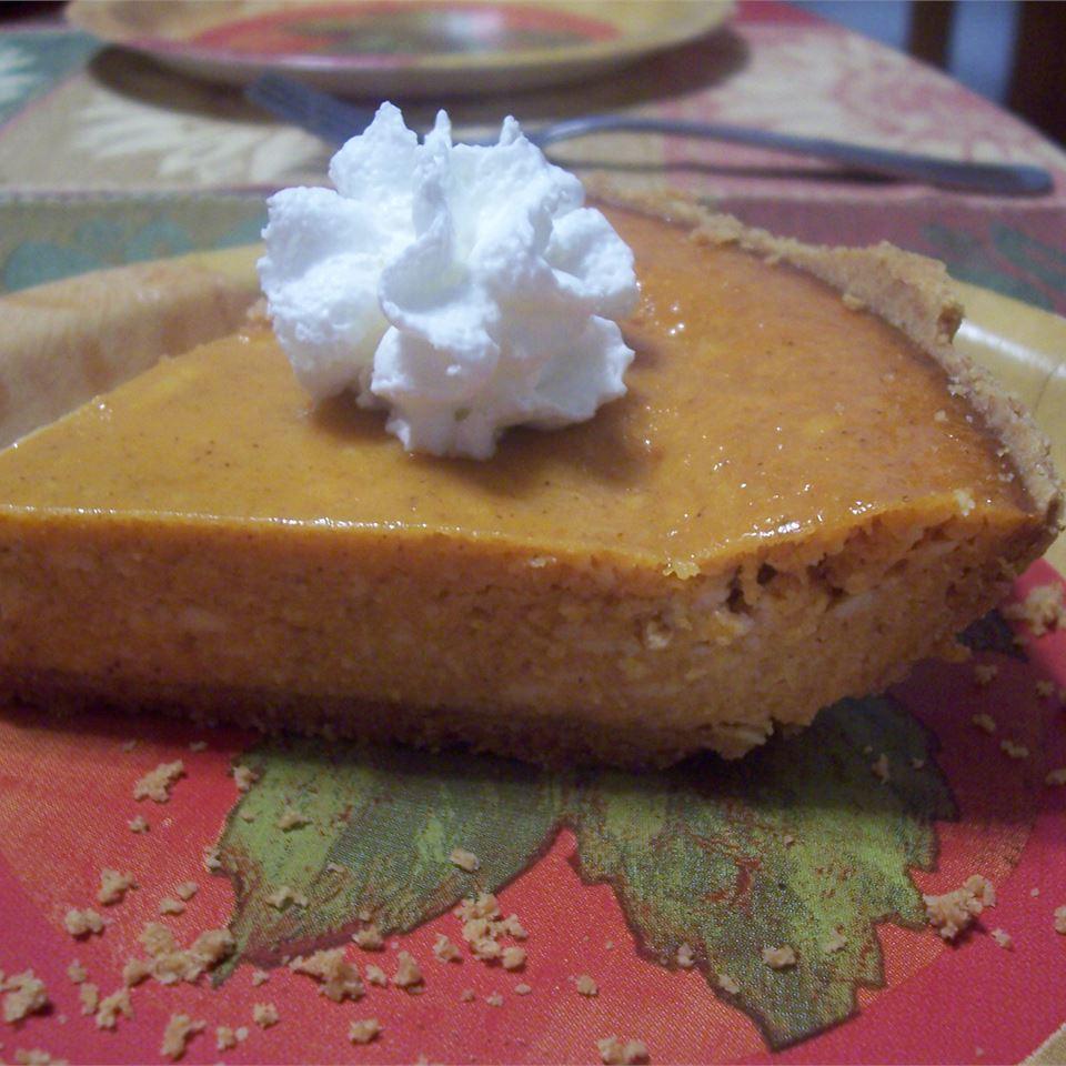 Pumpkin Cheese Pie with Condensed Milk
