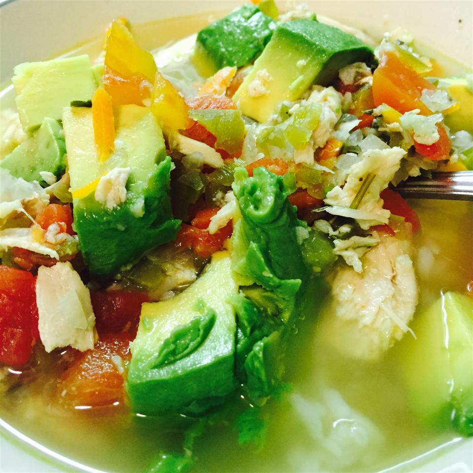 Avocado Soup with Chicken and Lime ALUHM