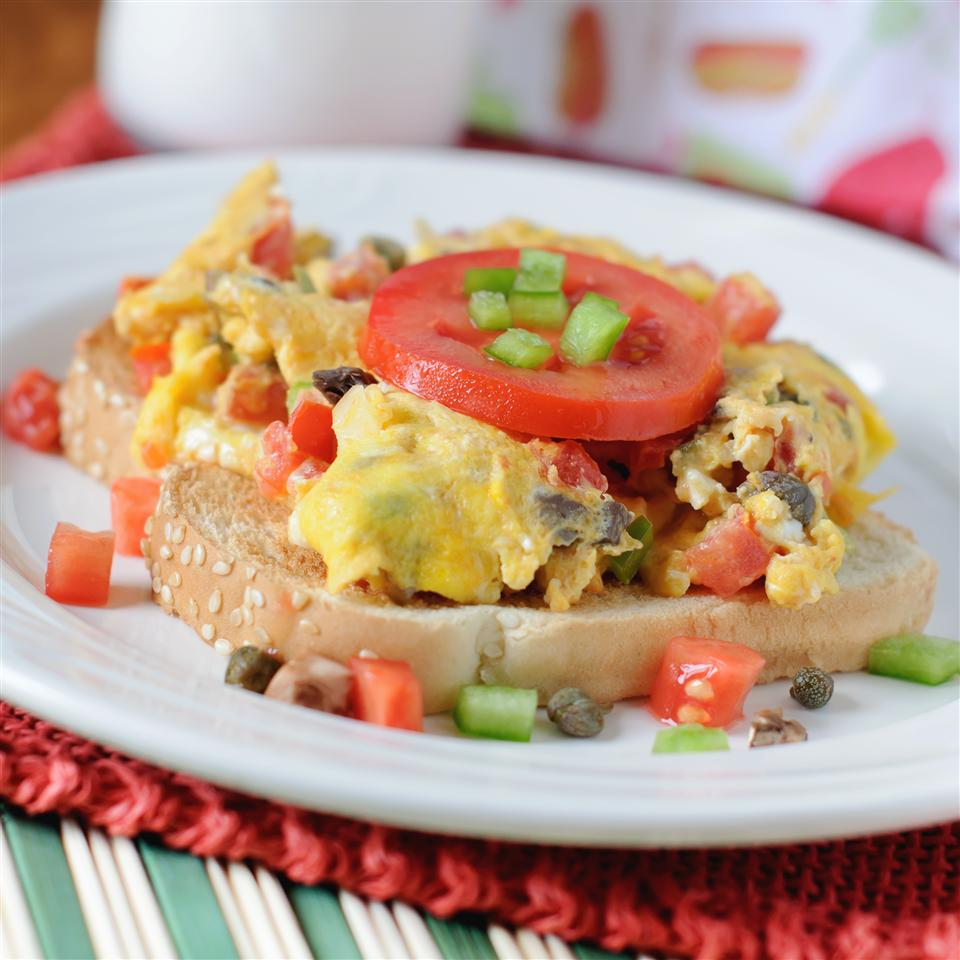 Eggs Creole Over Toast