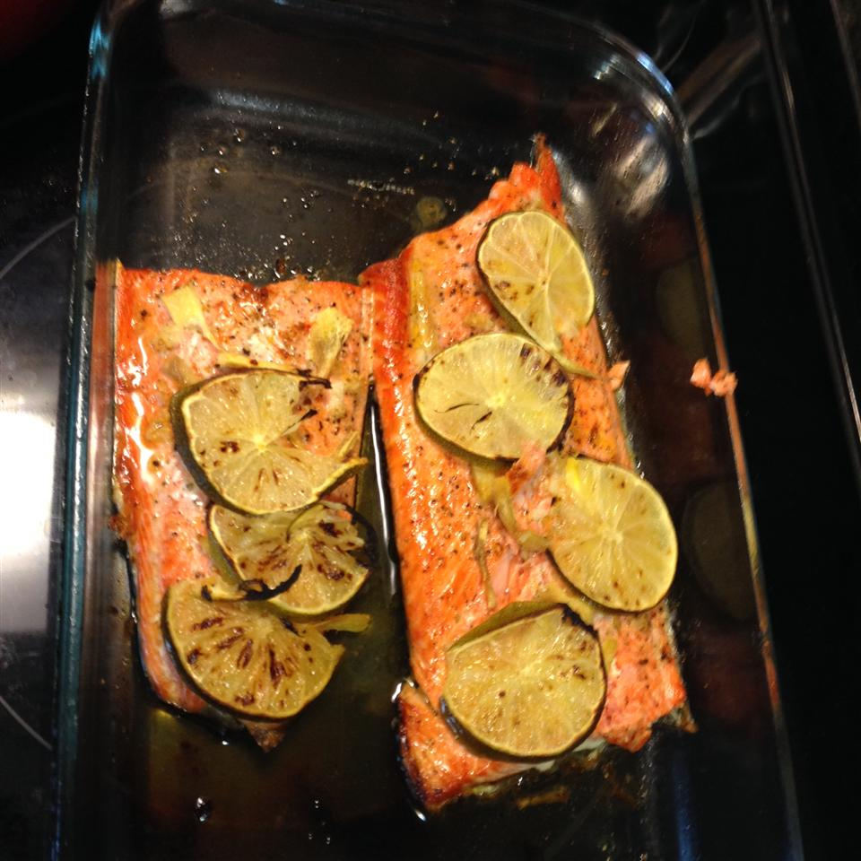 Ginger and Lime Salmon Christie