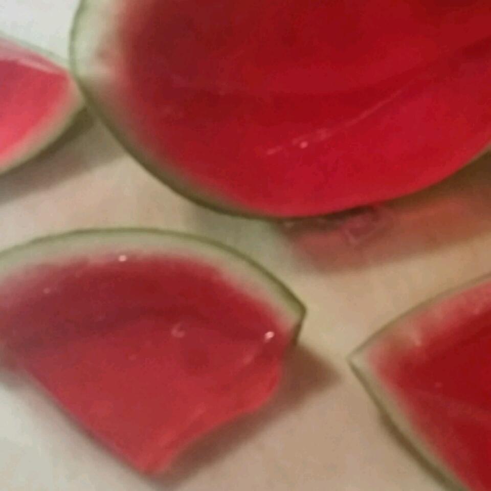 Sliced Watermelon Jell-O® Shots Samuel & Francisca Gutierrez