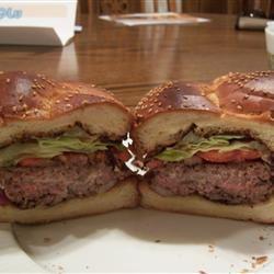 Blue Stuffed Buffalo Burger Jenn T.