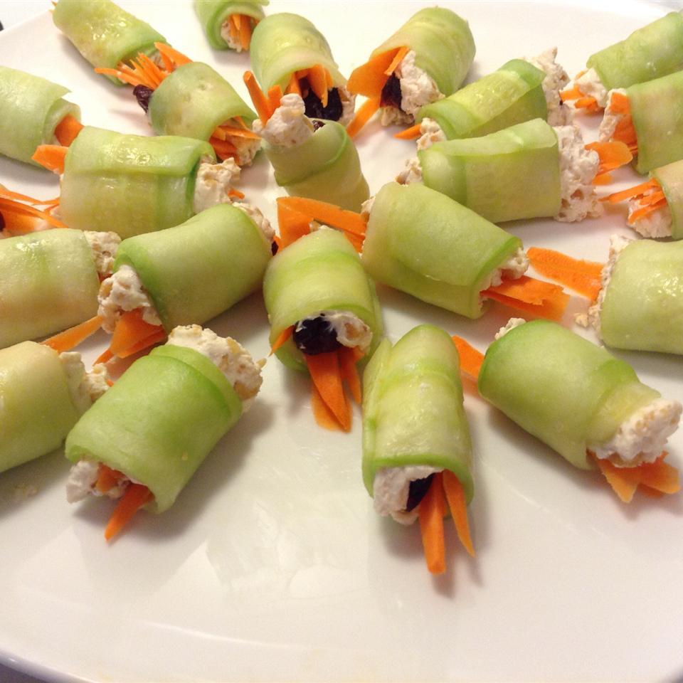 Mini Cucumber Sushi Rolls