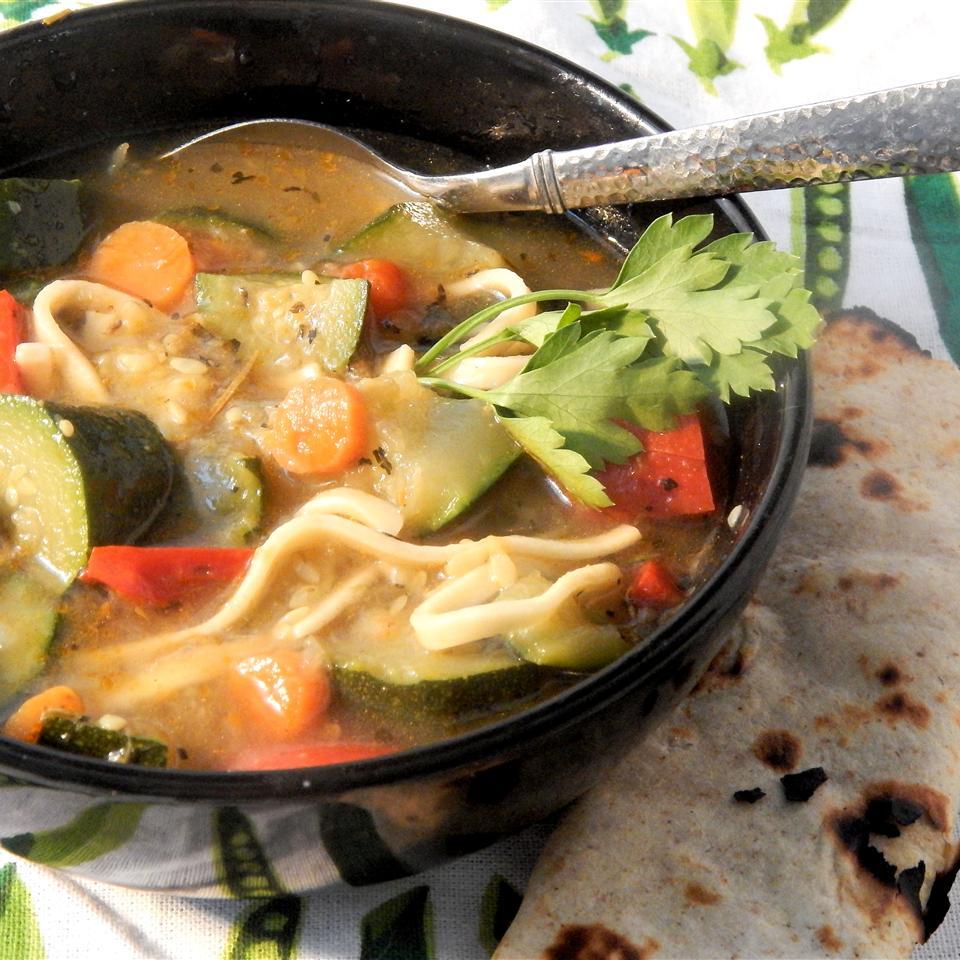 Herbal Kluski Zucchini Soup