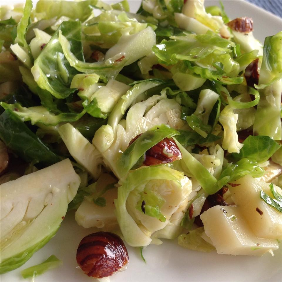 Hazelnut and Fresh Brussels Sprout Salad