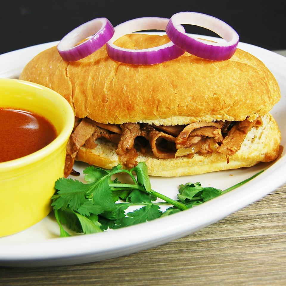 Drowned Beef Sandwich with Chipotle Sauce (Torta Ahogada) bd.weld