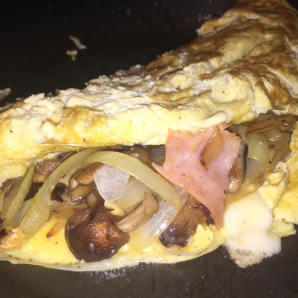Ham Omelette with Maille® Old Style Mustard Renny Sabina