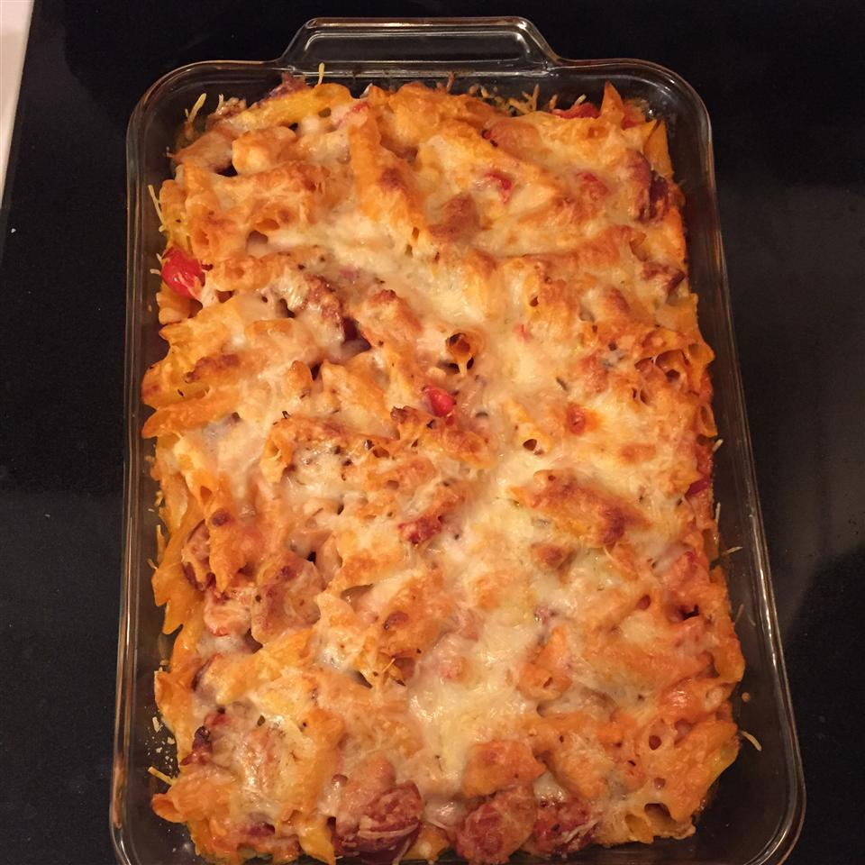 Chicken and Chorizo Pasta Bake tearizzle