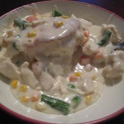 Creamed Chicken for Biscuits