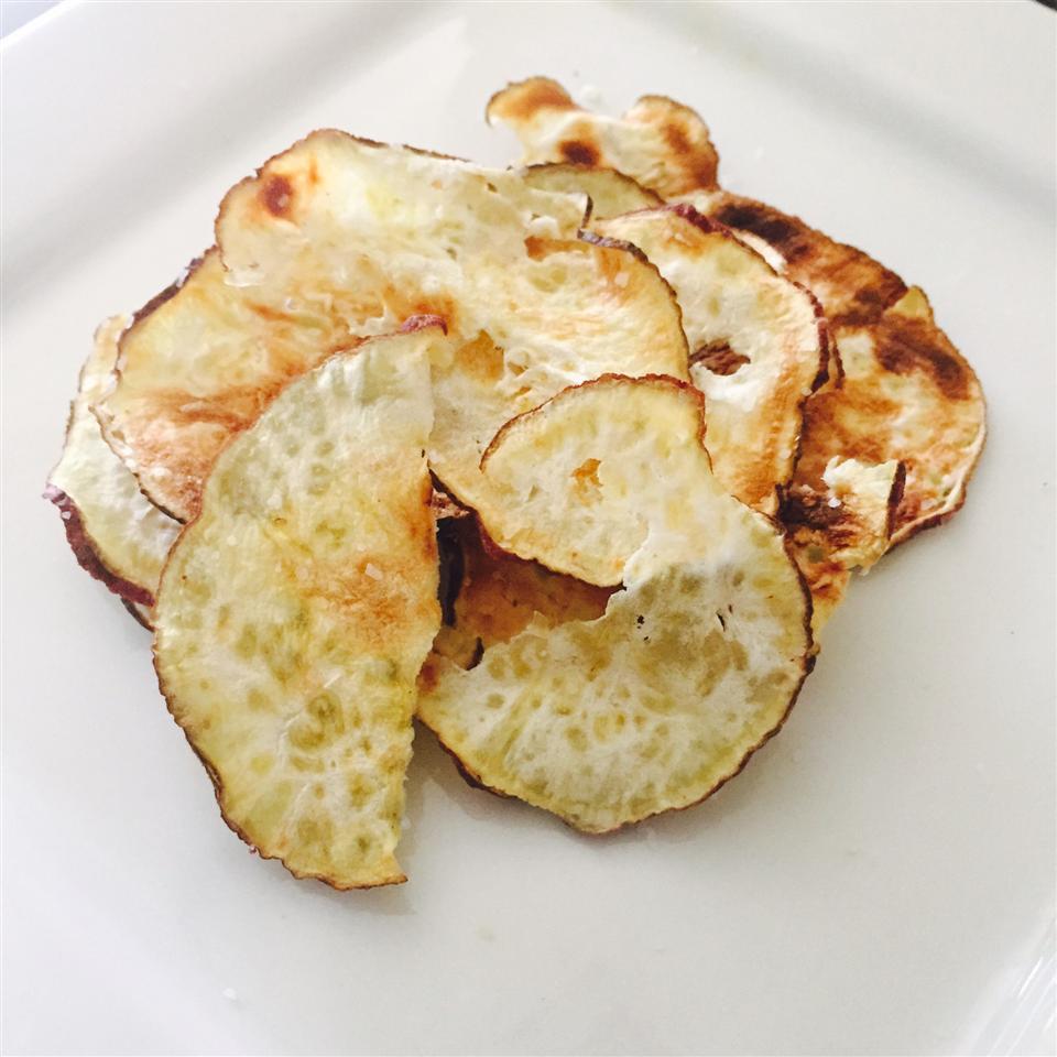 Microwave Sweet Potato Chips nikavu