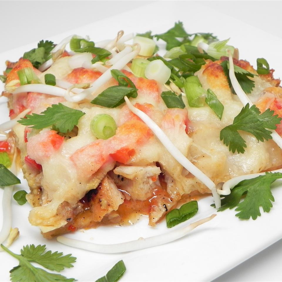 Thai-Italian Fusion - Sweet Chile Chicken Pizza