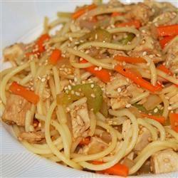 Sesame Pasta Chicken Salad COOKIN4MYFAMILY