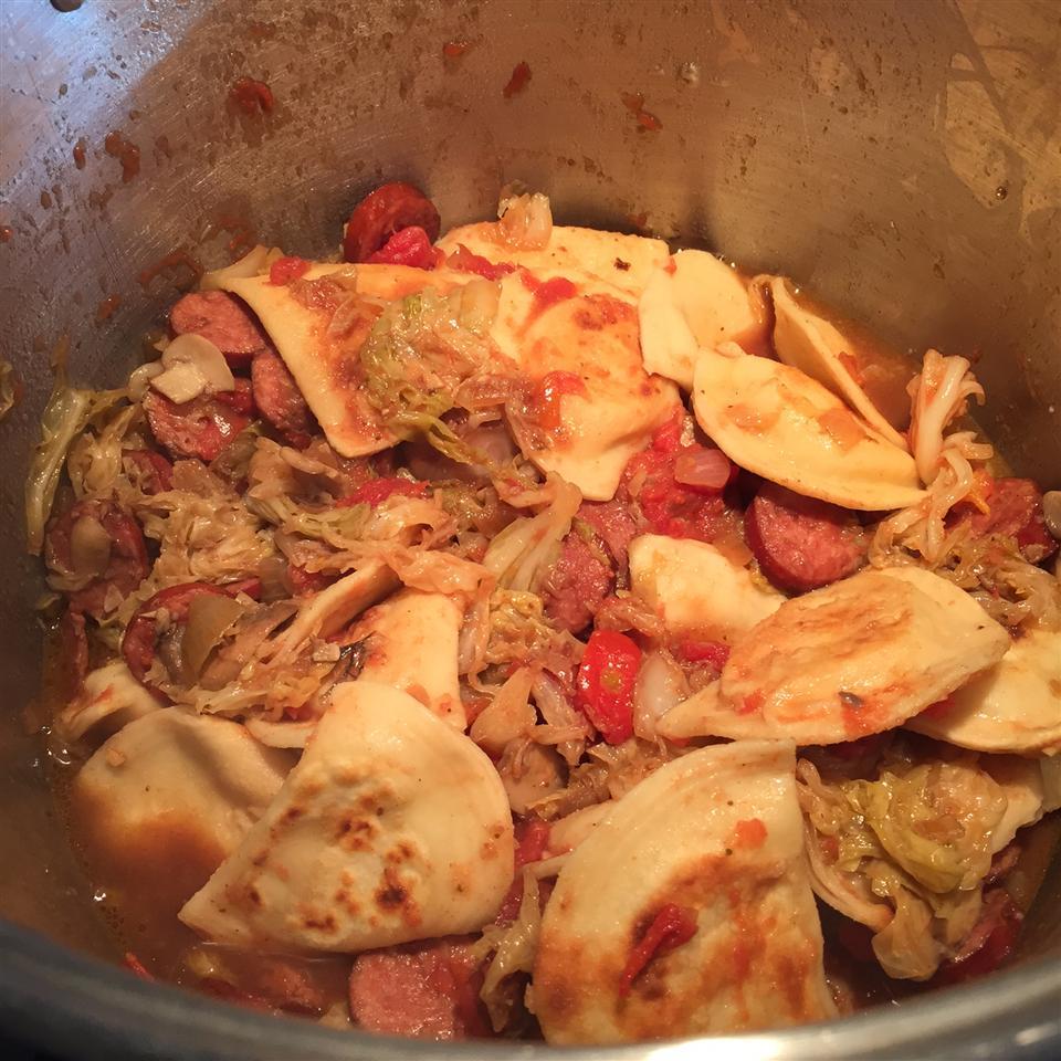 Cabbage, Polish Sausage, and Pierogies heidi_i
