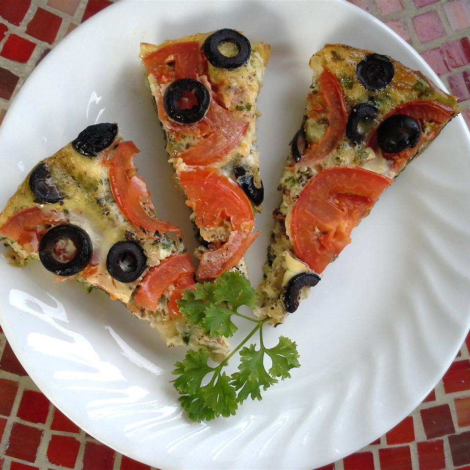 Vegetable Pizza Frittata Rock_lobster