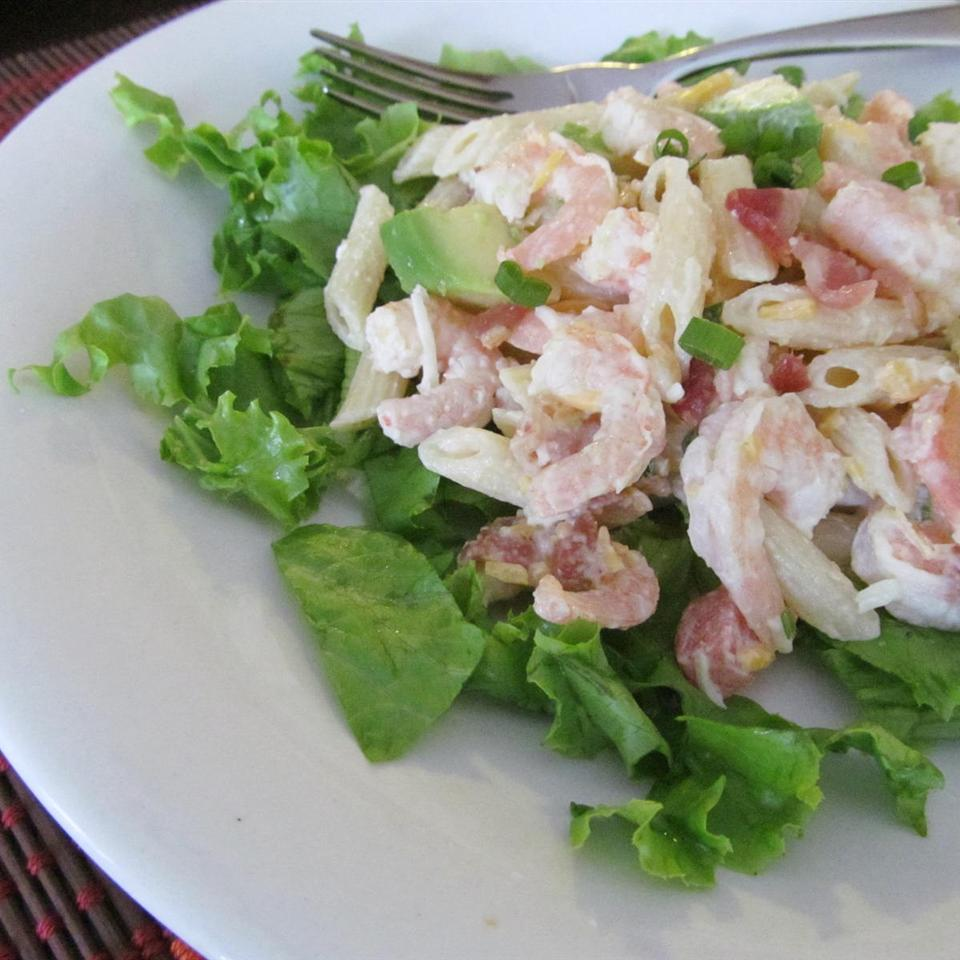 Shrimp Avocado Pasta Salad
