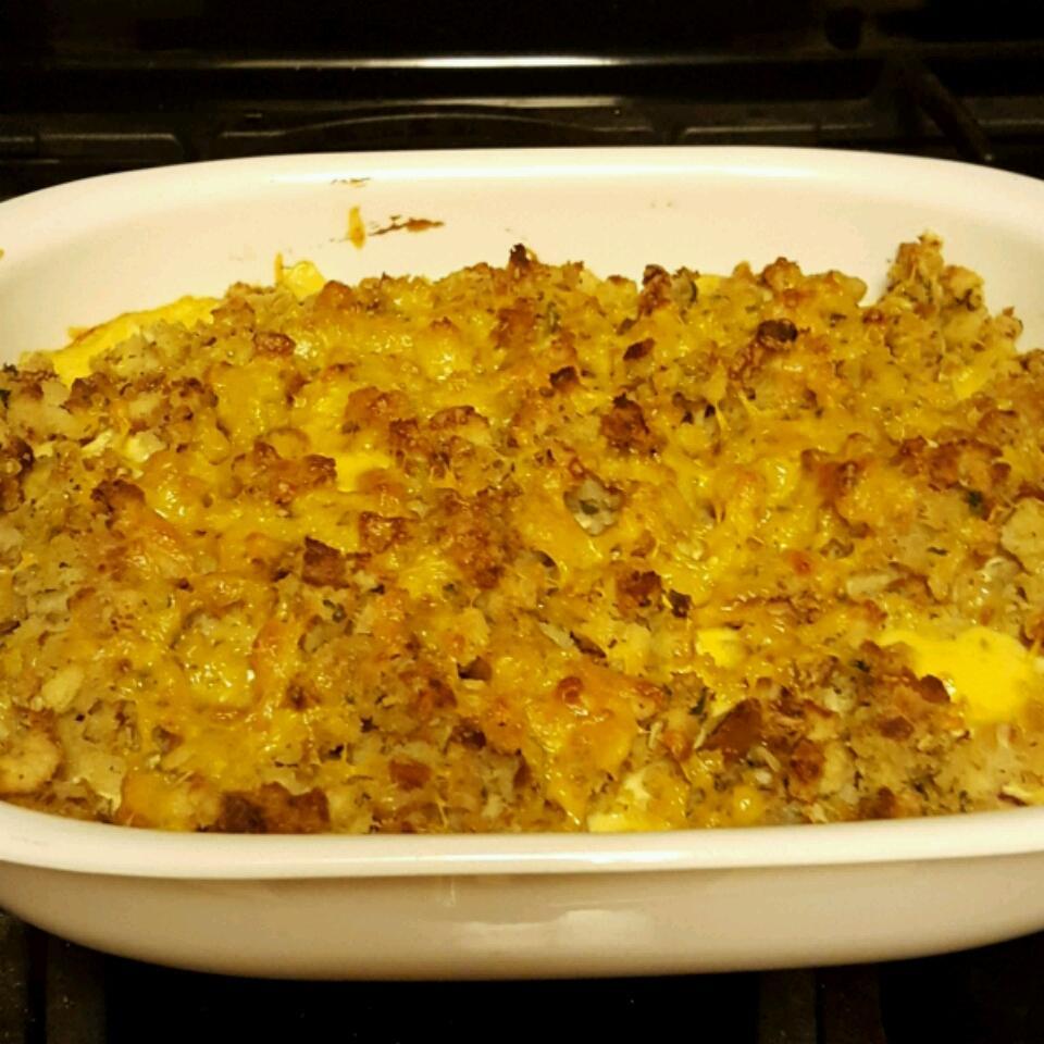 Rotisserie Chicken and Stuffing Casserole Sandie Moore