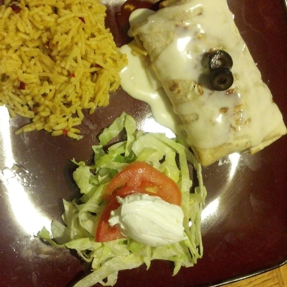 Beef and Bean Chimichangas Rochelle Thompson