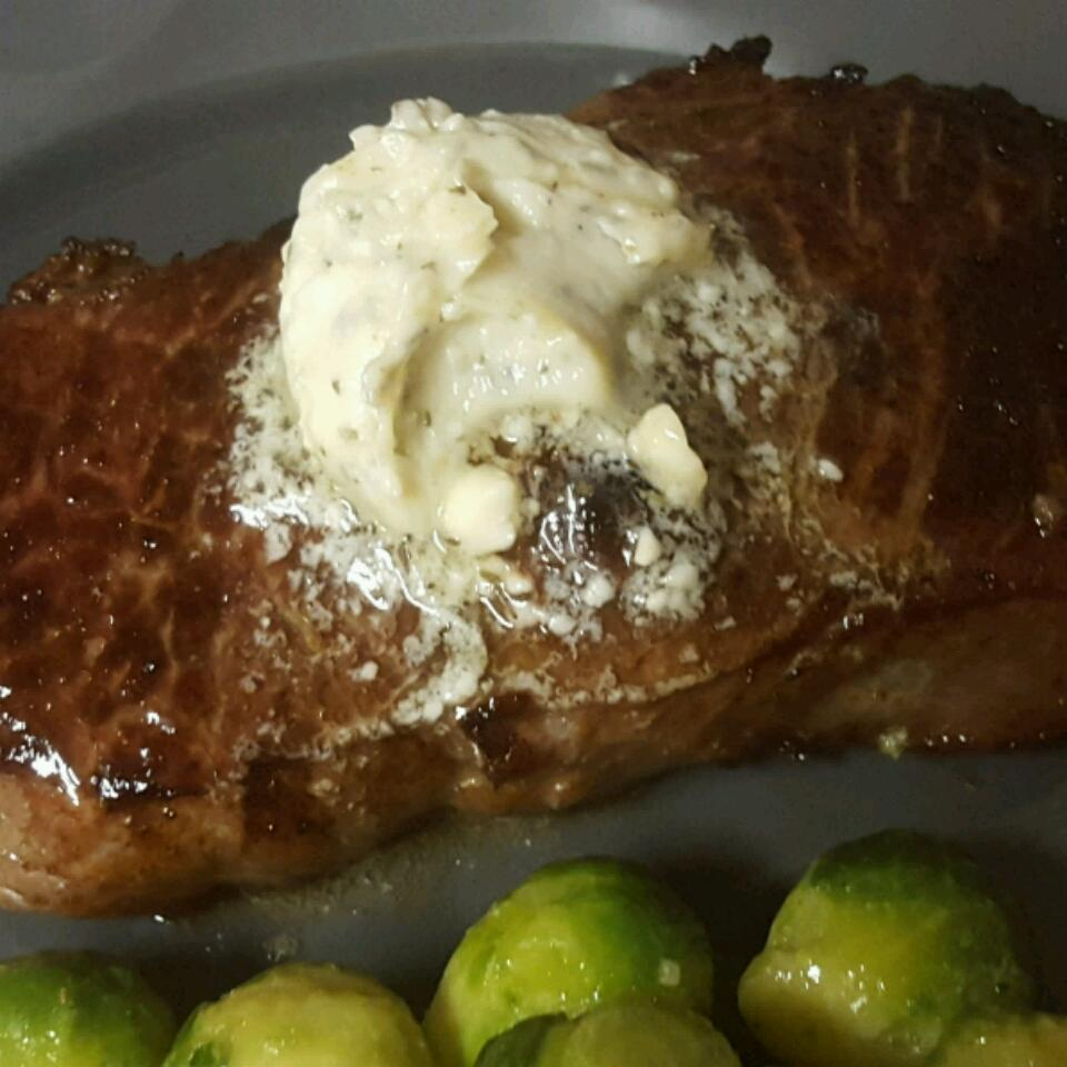 Kickin' London Broil with Bleu Cheese Butter Kelli Conine