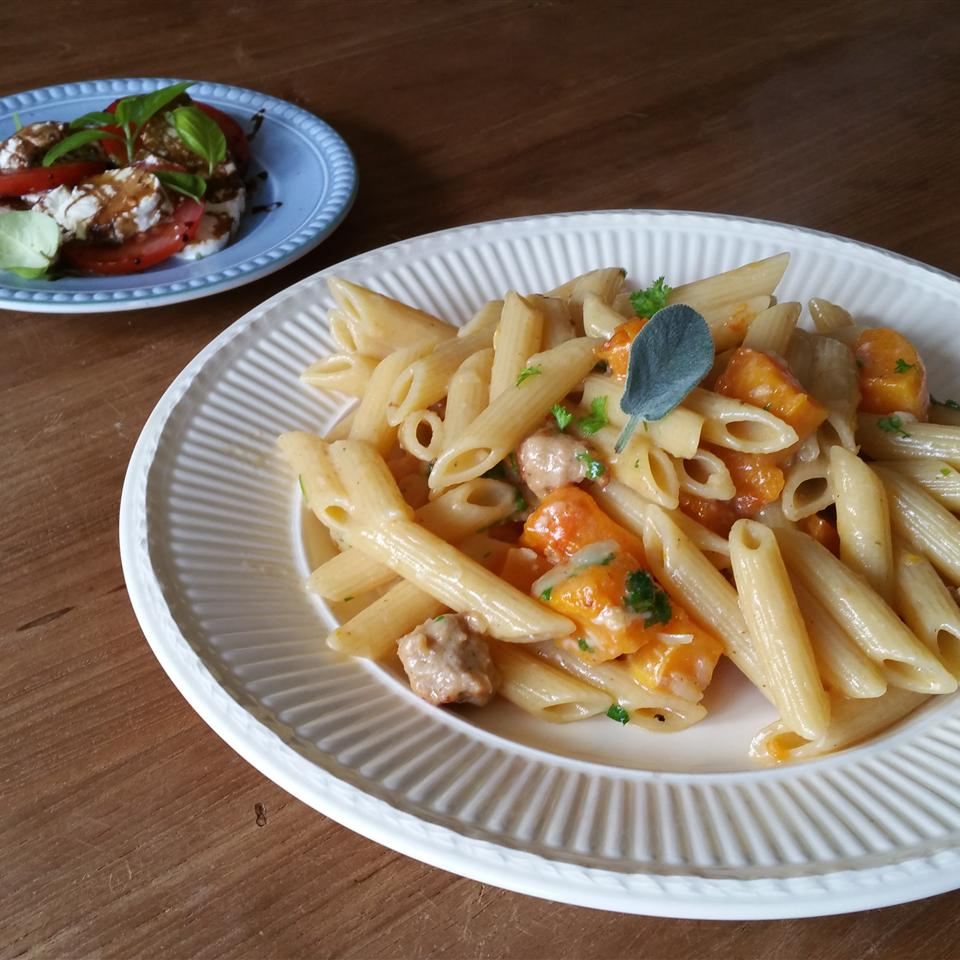 Pasta with Roasted Butternut Squash and Sage Anna