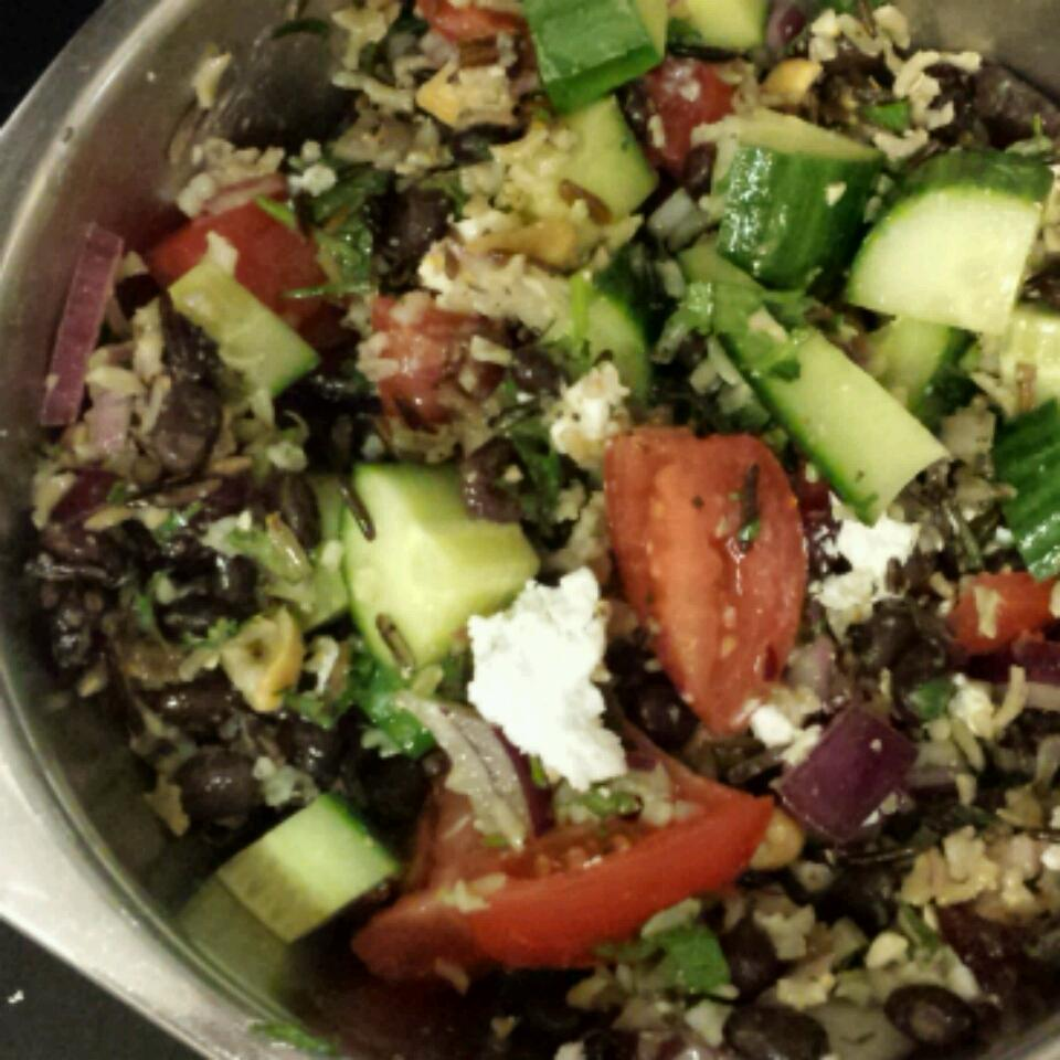 Black Bean and Wild Rice Salad Holly Perry