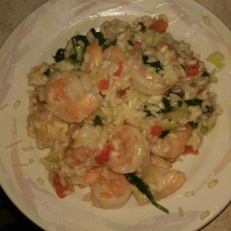 Shrimp, Leek and Spinach Risotto larvia57