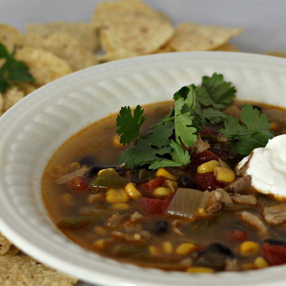 PAM's Spicy Slow Cooker Chicken Tortilla Soup duboo