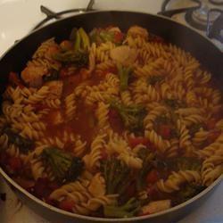 Rotini with Broccoli Cookin' Care!