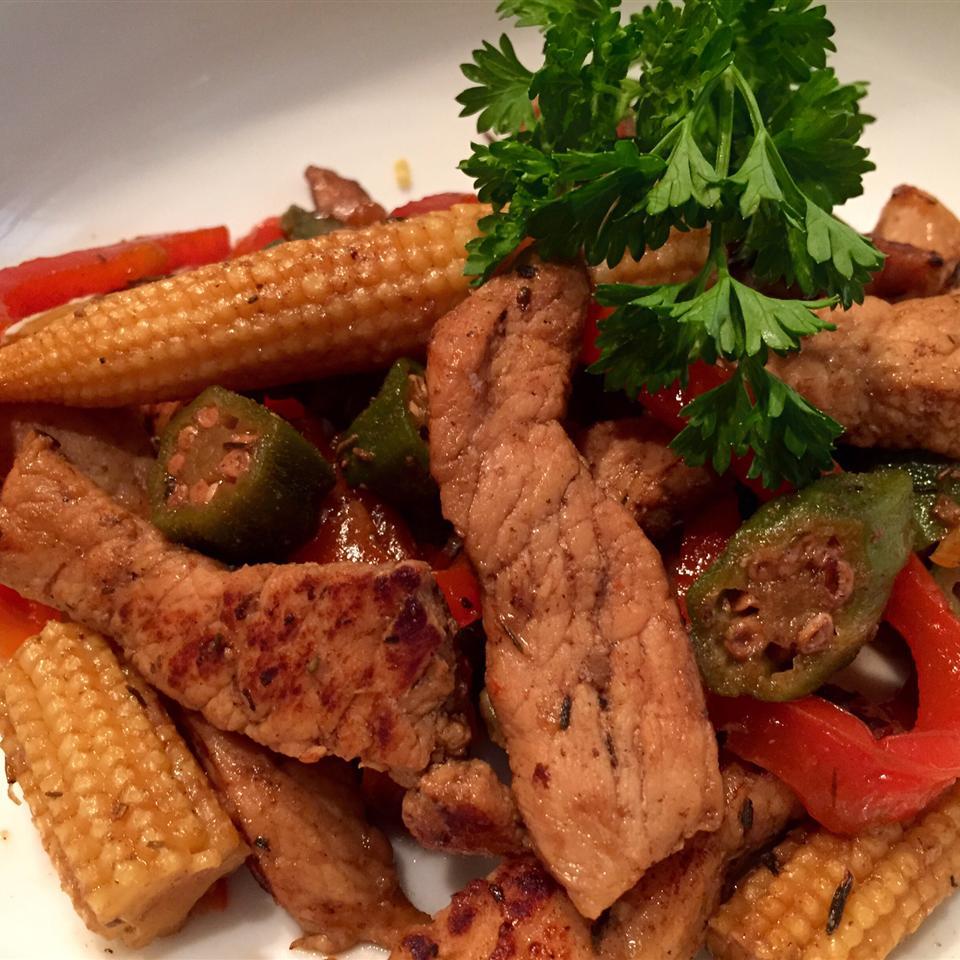 Dixie Pork Stir-Fry thedailygourmet