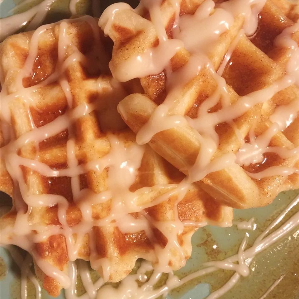 Cinnamon Roll Waffles Kimberly Sams
