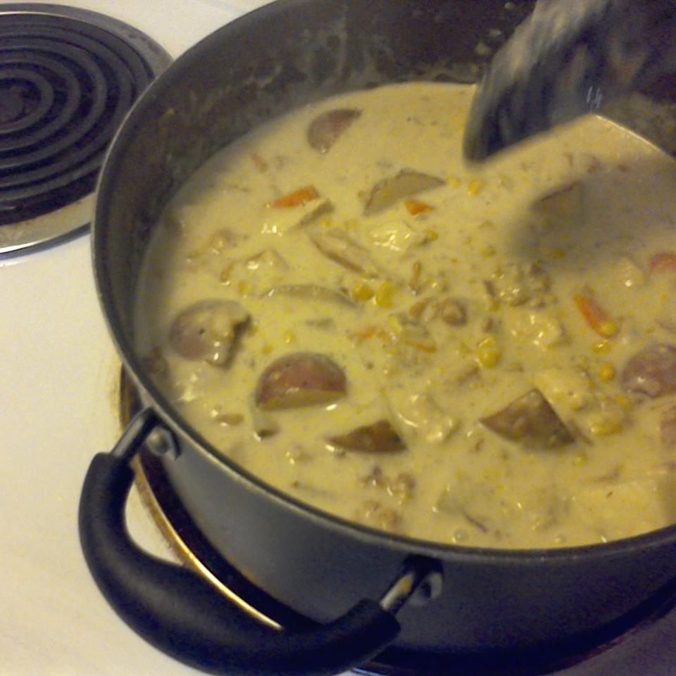 Papa Dar's Green Chile and Chicken Corn Chowder Timisha Marshall
