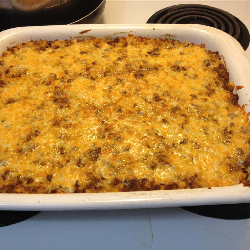 Quick Festive Ground Meat Skillet